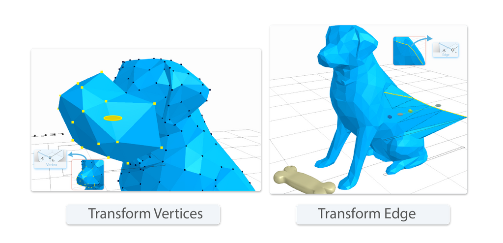 Transform edges and vertices