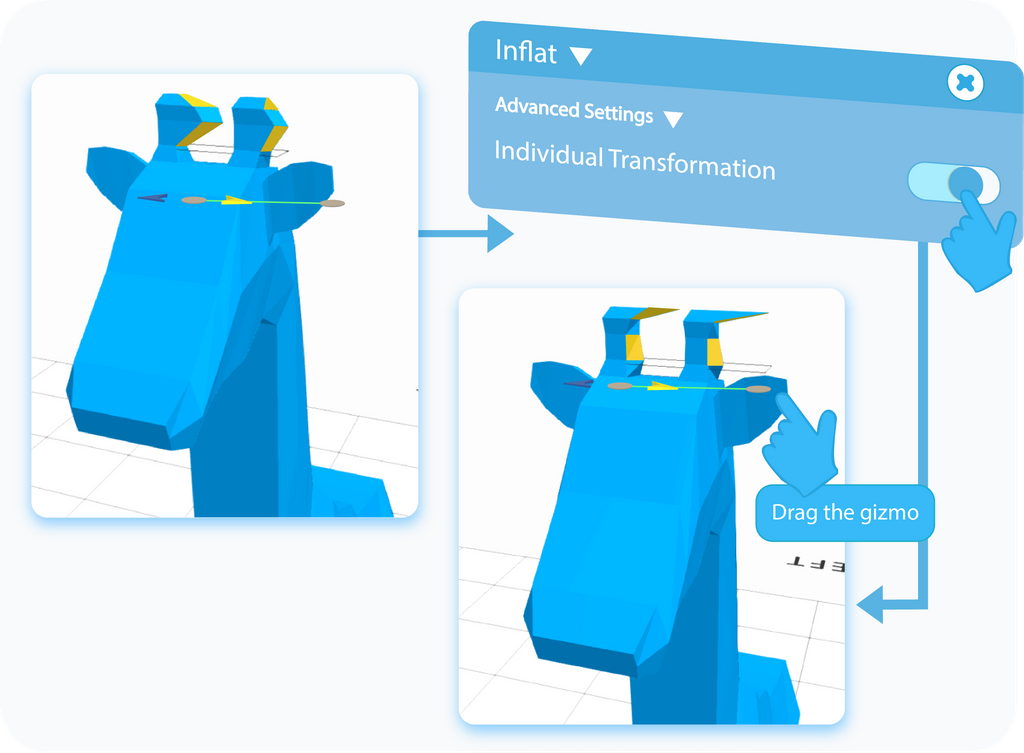 Inflate Individual Transformation