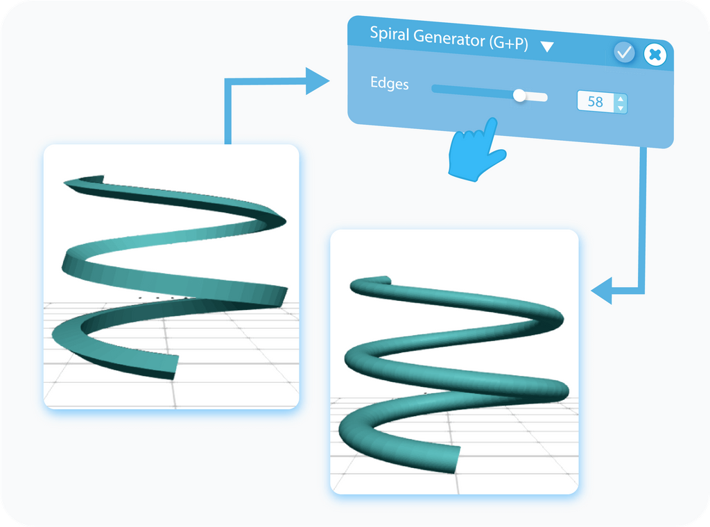 Customizing the Edges for Spiral Generator with slider or text-box