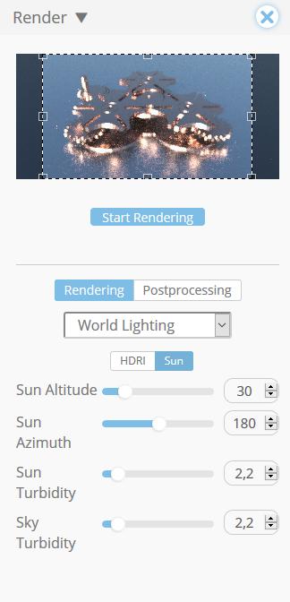 Rendering settings