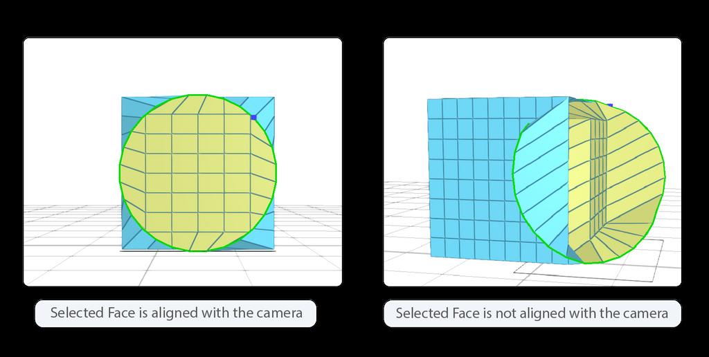 How camera position influences reshape