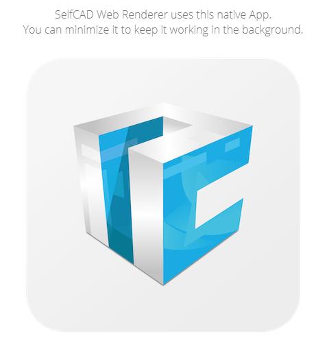 SelfCAD render app