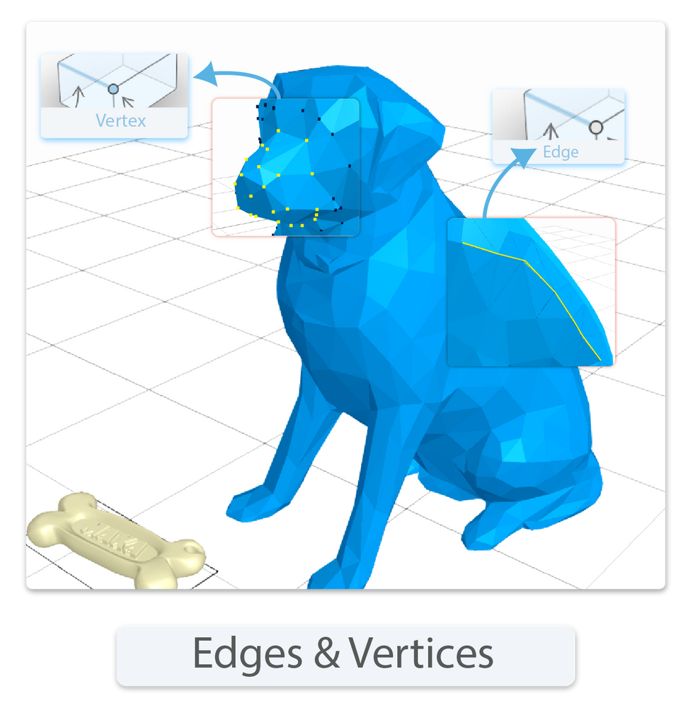 Selection of edges and vertices