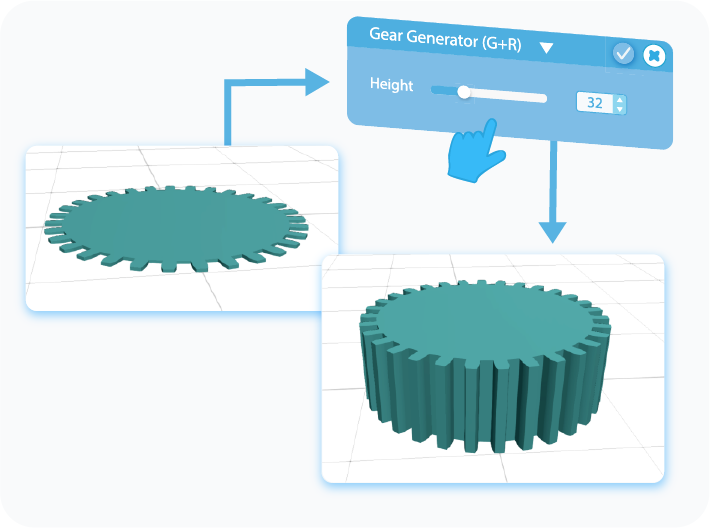 Gear Generator Height