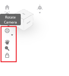 customize the camera behavior in SelfCAD with one of four available camera models