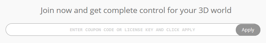 Text-box for License Key/Coupon