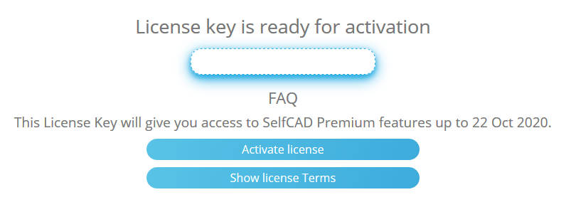 License key is ready for activation