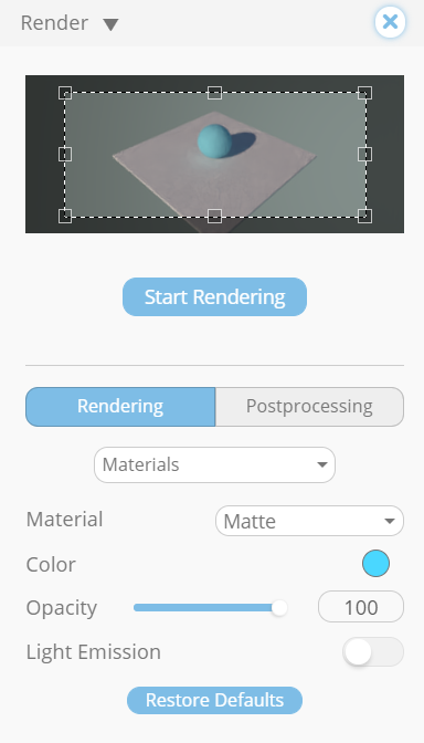 Once everything connects, you can explore the Render in the web application